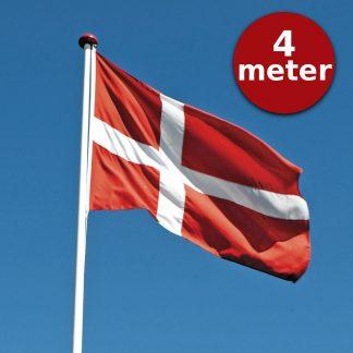 Thyholm Flagstænger 4m_Dannebrog på blå himmel